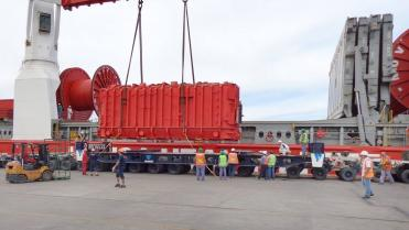 ZTR transformers were successfully delivered to Argentine port Zarate